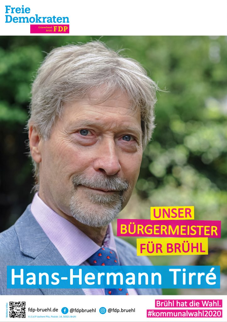 Plakat Bürgermeisterkandidat
